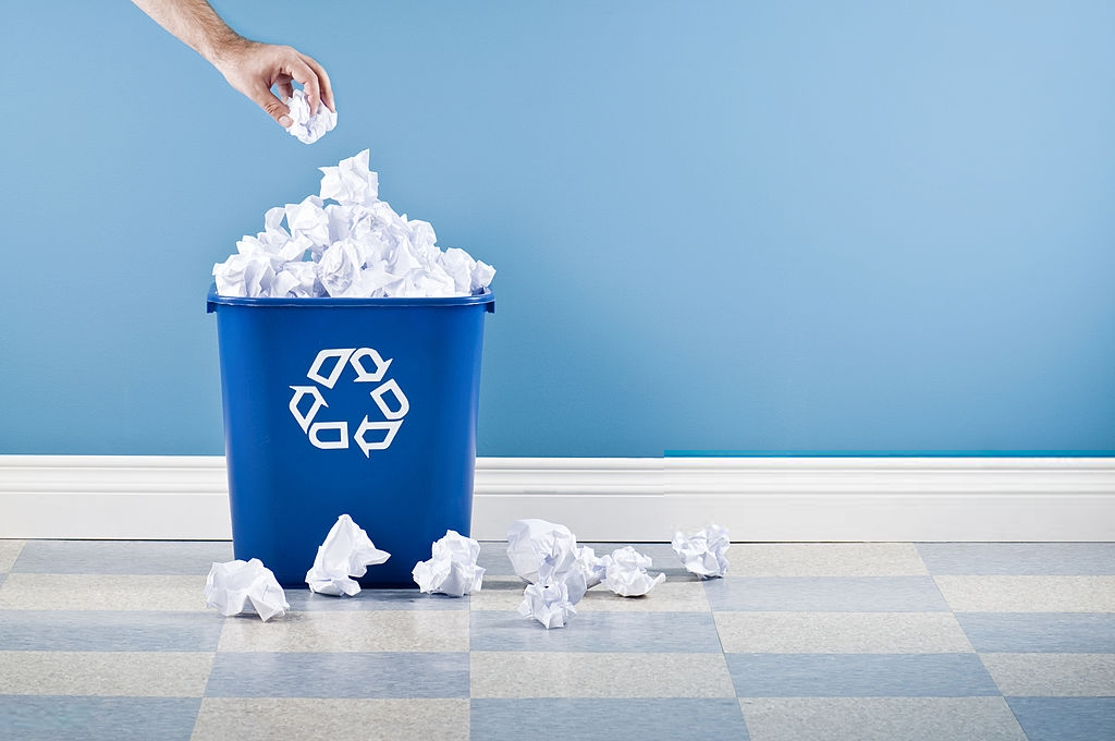 waste paper recycling process